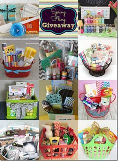 """gift basket ideas. This pin also includes how to make a unique """"Happy Birthday"""""""
