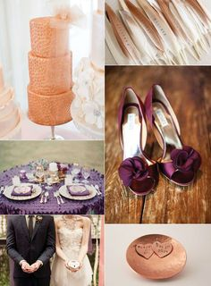 Get Inspired...Copper &Plum! - Lucky in Love Wedding Planning Blog - Seattle Weddings at Banquetevent.com #wedding inspiration  #copper and plum wedding