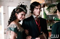 """""""Children of the Damned"""" - Nina Dobrev as Katherine, Ian Somerhalder as Damon in THE VAMPIRE DIARIES on The CW.  Photo: Quantrell Colbert/The CW  �2009 The CW Network, LLC. All Rights Reserved.pn"""