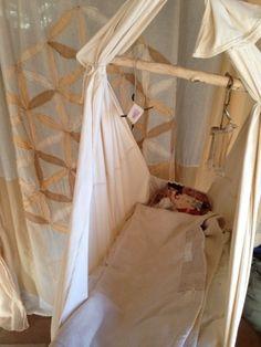Organic cottonの 赤ちゃんハンモックスリングが 誕生しました☆^ ^ 胸元で寝る我が子を ゆらゆ…