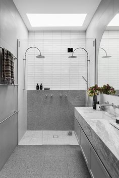 St.Kilda East Bathroom Trends, Bathroom Ideas, Bathroom Modern, Bathroom Inspo, St Kilda, Building A New Home, House Extensions, Walk In Shower, Home Interior