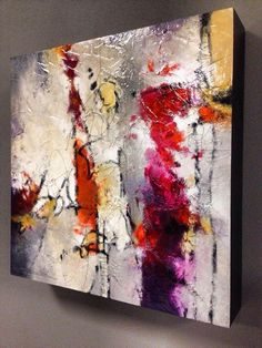 Carefree - 12x12'' mixed media abstract on panel by Mark Yearwood at Barsky Gallery - Hoboken, NJ markyearwood.com ©2014