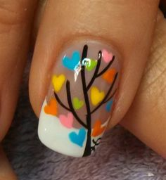 love grows on trees by aliciarock - Nail Art Gallery nailartgallery.nailsmag.com by Nails Magazine www.nailsmag.com #nailart