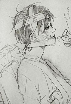 Injured Abused anime boy