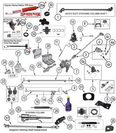 interactive diagram - jeep cj steering components 1966 chevy truck, jeep  truck, chevy trucks