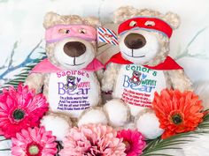 Worry bear - Super Bear - Comforter Bear - Worry super bear - Personlaised teddy bear - Worry teddy bear - Worry comforter bear by SPGiftsShop on Etsy Cubbies, Free Delivery, No Worries, Your Design, Comforters, Handmade Items, Teddy Bear, Sewing, Toys