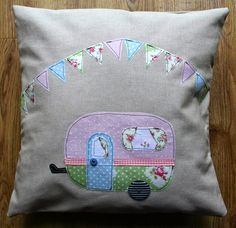 Applique caravan cushion