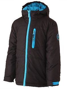 Surfanic boys jacket black #snowboard #winter coat new #school childrens kids…