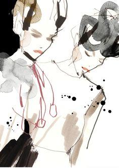Fashion illustration by Cecilia Lundgren