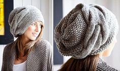 Prosta czapka na drutach – jak zrobić, schemat – Dom Klary