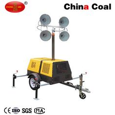 FZMT-1000B Trailer Mounted Light Tower Chinacoal07 Overview:  Telescopic Light Tower  Mobile Light Tower(Trailer Mounted Type)       Normally used for night lighting in municipal,highway bridges,ports,mines,construction sector construction and other fields, and also suitbable for night repair and disaster scene.   Features:  1.4x1000W metal halide lamps; 2.6 meter or 9 meter safe and quick mast; 3.Kipor diesel generator or Honda gasoline generator, high performance; 4.Large service dimension…
