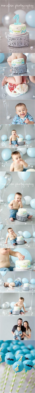 Sammie is One! #baby #boy #1 #one #cakesmash