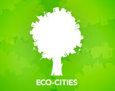 Eco-cities logo: merge of city and nature!!!!