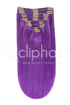 <p>  Perfect for adding volume or length to your natural hair. The set contains a total of eight 24 inch wefts complete with metal clips pre-attached. Purple clip in hair extensions, with full instructions included.</p>