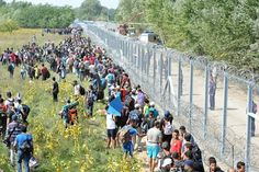 Closed borders and razor-wire fences fail to deter desperate refugees