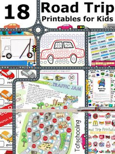 Road Trip Activity Pack for Traveling with Kids | Totschooling - Toddler and Preschool Educational Printable Activities