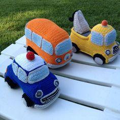 Crochet Car, Crochet Fruit, Crochet Food, Crochet For Boys, Crochet Crafts, Crochet Projects, Crotchet Patterns, Crochet Patterns Amigurumi, Crochet Stitches