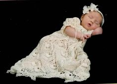 I love this dress.  I've made it three times.  Very easy to follow instructions and the finished project is gorgeous.....Kaitlyn's Blessing Dress Thread Crochet Pattern by SunsetCrochet, $4.95