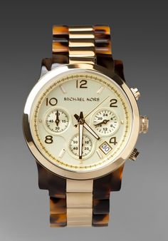 Michael Kors 5138 Watch in Tortoise/Gold