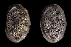 Broaches that are believed to belong to a married Viking couple found in a grave in suffolk.