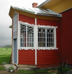 Finnish houses, beautiful window details.