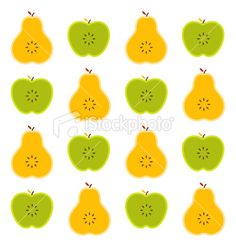 apples and pears textile pattern Royalty Free Stock Vector Art Illustration