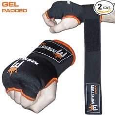 Meister Gel-Padded ProWrap Hand Wrap Gloves (Pair) - Large / X-Large