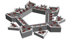 Massive Vauban style fortress.