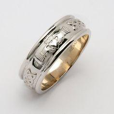 Claddagh Corrib Claddagh Wedding Band 6.5mm by CelticLink on Etsy