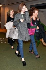 Lily Collins Wool Coat