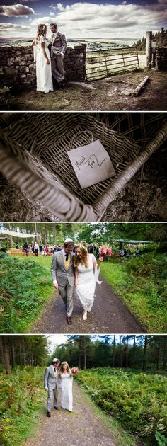 Outdoor, rustic, relaxed Jewish wedding, full of handmade and DIY details, at The Bivouac, Swinton Park, North Yorkshire, UK Edwardian style wedding dress by Sally Lacock Edwardian Fashion, Edwardian Style, Jessica David, Yorkshire Uk, Park Weddings, Designer Wedding Dresses, Wedding Blog, Rustic, Detail