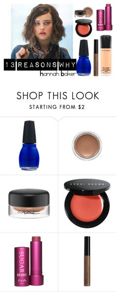 """""""Hannah Baker - 13 Reasons Why Makeup Inspiration"""" by silpeh ❤ liked on Polyvore featuring beauty, MAC Cosmetics, Bobbi Brown Cosmetics, Fresh, NYX, Beauty, Inspired, makeup, hannahbaker and 13reasonswhy"""