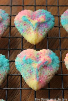 Tie-Dye Valentine's Day Heart Shaped Spritz Cookies
