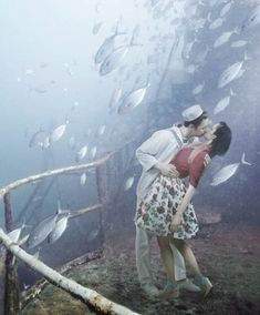 Mohawk Project – The new project of underwater photography by Andreas Franke, using the deck of the submarine USS Mohawk CGC to photograph surreal aquatic scenes...x