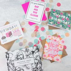 Magnolia Crate theme for March 2017 was birthdays! See the review of this monthly greeting card subscription + coupon code!   Magnolia Crate Subscription Box Review & Coupon - March 2017 →  https://hellosubscription.com/2017/04/magnolia-crate-subscription-box-review-coupon-march-2017-2/ #MagnoliaCrate  #subscriptionbox