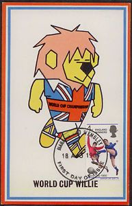 UNITED KINGDOM 1966, FIFA WORLD CUP SOCCER, FOOTBALL ENGLAND, MASCOT WILLIE