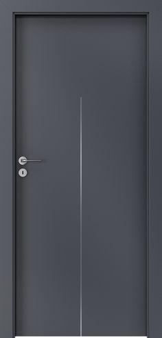 Porta LINE H.1 Antracyt HPL CPL Bedroom Door Design, House Gate Design, Door Design Interior, Interior Doors, Modern Wooden Doors, Internal Wooden Doors, Modern Door, Front Door Design Wood, Wooden Door Design