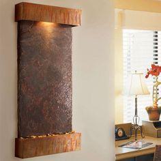 Frame: Coppervein Powder Coat -  BluWorld Nojoqui Falls Wall Fountain $795.00