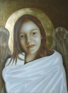 """Hope"" Angel Painting by Nanne Nyander.  In the series ""Angels of Virtues""  http://nannenyander.se"