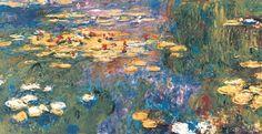 Water lilies - part.  - Monet Claude (1840-1926) - STAMPA SU TELA   € 23,38