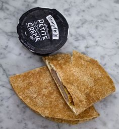 Easy lunch box ideas: breaded pork cutlets with cream cheese on a whole-wheat tortilla; yogurt. http://www.LunchBoxBlues.com