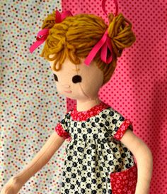 Handmade Doll jointed posable made from 100 wool by PhoebeandEgg, $230.00