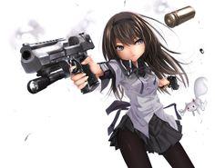 military women with guns | ... Anime Guns Rifle Girls With 1024x768 | #212075 #anime guns - Ecro