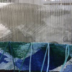 Weaving more water today. Trying to keep track of the waves!#tapestry,#tapestryweaversofinstagram #virginiaartist