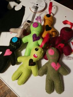 6 inch voodoo dolls by Wenn's Weird Creations available on etsy