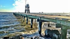 A pier on Dauphin Island, Ala. is frozen over Jan. 7, 2013. Dauphin Island is a barrier island off the coast of Mobile,