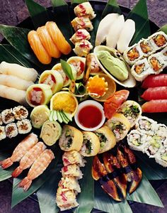 My absolute favourite canapé. I'd be more than happy to just have a whole platter of sushi to myself. And best of all I don't have to feel too guilty about it either. You've got protein in the fish, all the veggie nutrients in the sushi - what's not to love? #TopshopPromQueen
