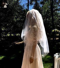 Bridal Wedding Beaded Veil, Two Tier Bridal Veil - Bridal hats and veils (*Amazon Partner-Link)