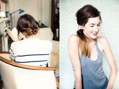 Messy buns and pony tails -imagine some babies breath or lace interwoven in these to make smashing wedding 'dos!