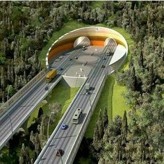 That road looks wild Mesto Arpalı v Bayburt, tunel Salmankaş, ktorý spojí Trabzon a Bayburt. Highway Architecture, Bridges Architecture, Landscape Architecture, Landscape Design, Architecture Design, Futuristic City, Futuristic Architecture, Amazing Architecture, Beautiful Roads